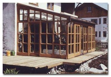 wintergarten holz wurm - architektur in holz und glas, Moderne